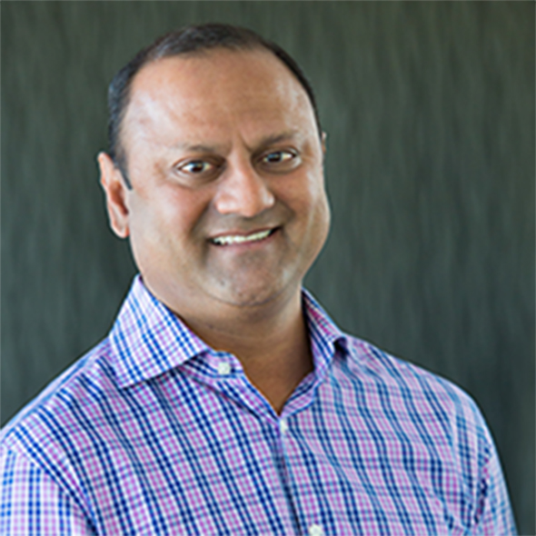 Image of Vijay Iyengar, MD. Incyte Corporation's Executive Vice President, Global Strategy and Corporate Development