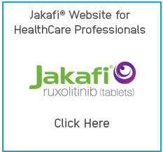Image of Jakafi Website for HealthCare Professionals and Jakafi Logo
