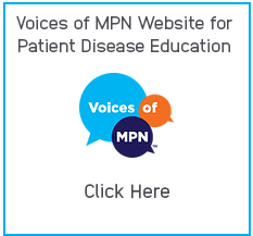 Image of Voices of MPN Website for Patient Disease Education and Voices of MPN Logo